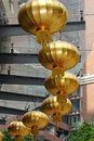 Golden Lanterns Stock Photos