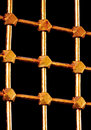 Golden lattice bars Stock Image