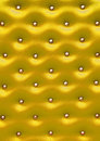 Golden leather pattern with knobs Royalty Free Stock Photos