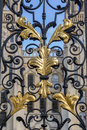 Golden leaves ornament at an old gate in oxford ornamentat the of all souls college united kingdom Stock Photos