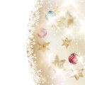 Golden Lights and Stars Christmas Background. Royalty Free Stock Image