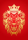 Golden lion king Royalty Free Stock Photo
