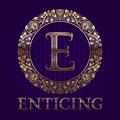 Golden logo template for enticing boutique