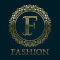 Golden logo template for fashion boutique