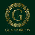 Golden logo template for glamorous boutique