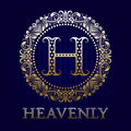 Golden logo template for heavenly boutique