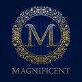 Golden logo template for magnificent boutique