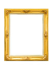 Golden louise vintage photo frame isolated on white background Royalty Free Stock Photo