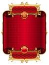 Golden luxury frame Royalty Free Stock Photo