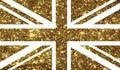 Golden Luxury glitter United Kindom UK country flag icon