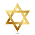 Golden magen david star of david vector illustration Royalty Free Stock Photos