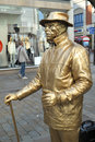 Golden Man Street Performer Royalty Free Stock Photo