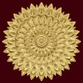 Golden mandala, indian ornament. East, ethnic design, oriental pattern, round gold . Luxury , precious jewel, fretwork, expensive