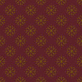 Golden and Maroon Damask Seamless Pattern Stock Photography
