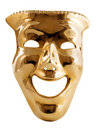 Golden mask. Stock Images