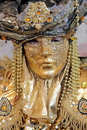 Golden mask at Carnival of Venice Royalty Free Stock Image