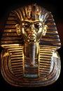 stock image of  The golden Mask of King Tut Ankh Amen.