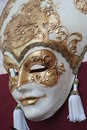 GOLDEN MASK OF VENICE Royalty Free Stock Photos