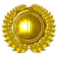 Golden medal Royalty Free Stock Image
