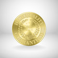 Golden medal / award coin Royalty Free Stock Image