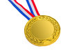 Golden medal isolated on white background Royalty Free Stock Image