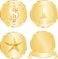 Golden medallions Royalty Free Stock Image
