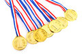 Golden medals Royalty Free Stock Photo