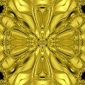 Celtic Kaleidoscope, golden medieval cross Royalty Free Stock Photo