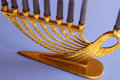 Golden Menorah Royalty Free Stock Photography