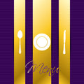 Golden menu with purple background Stock Photo