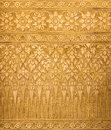 Golden Metal Background with Thai Traditional Textures, Contemporary Royalty Free Stock Photo