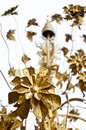Golden metal flower thai traditional style Royalty Free Stock Photography