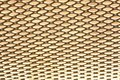 Golden metal grid Royalty Free Stock Image
