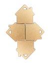 Golden Metallic House Shaped O...