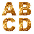 Golden metallic letters. Royalty Free Stock Images