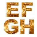 Golden metallic letters. Stock Photography