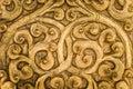 Golden metalwork intricate goldwork on a door Stock Images