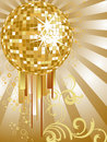 Golden mirror ball Royalty Free Stock Photos