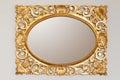 Golden mirror frame Royalty Free Stock Photo