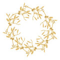 Golden Mistletoe Garland Royalty Free Stock Images