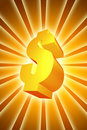 Golden Money Stock Image
