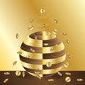 Golden money spread power card