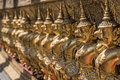 Golden Monuments at buddhist temple
