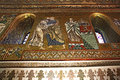 Golden mosaic in Cappella Palatina Royalty Free Stock Photo
