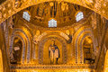 Golden mosaic la martorana church palermo italy Stock Image