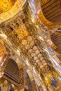 Golden mosaic la martorana church palermo italy Royalty Free Stock Image