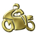 Golden Motorbike Royalty Free Stock Photography