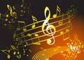 Golden music theme Royalty Free Stock Images