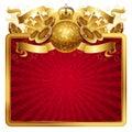Golden musical frame Royalty Free Stock Photo