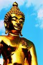 Golden navalantaue Buddha Statue at Chiangsaen Stock Photos